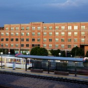 Denver's Evans Station Lofts is adjacent to a light rail station and has 50 workforce-housing units and 7,100 s.f. of commercial space. Photo: Urban Land Conservancy