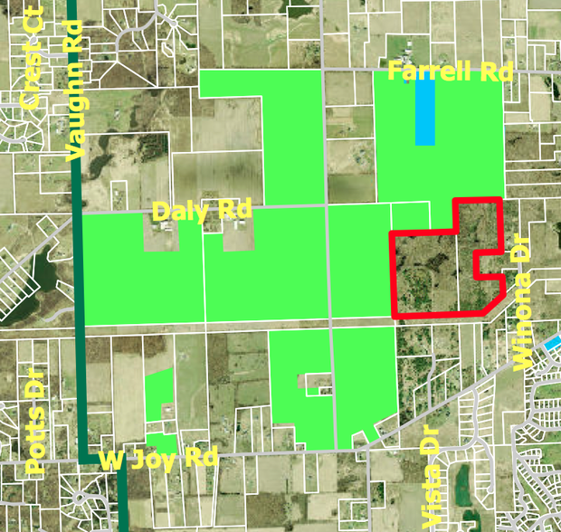 A 9948 Acre Property Off Joy Road In Webster Township Shown Red