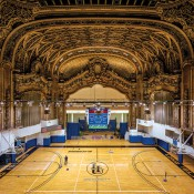 Paramount Theater, Brooklyn, NY, 2008. 4,124 seats, opened (1928), hosted artists such as Duke Ellington, Ella Fitzgerald, Miles Davis, Liberace and Frank Sinatra, closed (1962), used as gymnasium by Long Island University (from 1962). Image © Yves Marchand and Romain Meffre