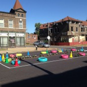 Traffic calming demonstration in St. Louis