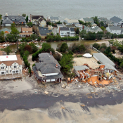 New Jersey shoreline after Hurricane Sandy