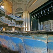 The stage and main seating are of the Orpheum theater shows some of the damage left behind by Hurricane Katrina in New Orleans, Wednesday, Jan. 25, 2006. The Orpheum was one of the major performing arts theaters until Hurricane Katrina flooded the facility. The theater is listed on the national registry of historic places and could take years to rebuild.(AP Photo/Bill Haber)