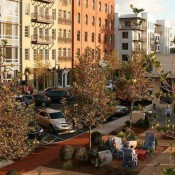 A park in Woodstock Downtown, which is a model for Doraville's new town center.