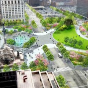 A rendering of the completed Cleveland Public Square (Credit: Group Plan Commission)
