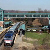 A VRE train at the Woodbridge station (VRE Photo)