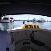 Boston Harbor Cruises water taxi (Jonathan Wiggs / Boston Globe)