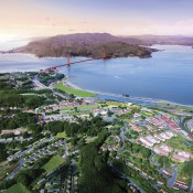 A rendering of the forthcoming Presidio land development