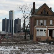 A vacant house in Detroit's Brush Park neighborhood (Rebecca Cook / Reuters)