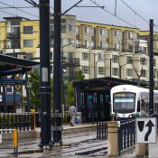 Light rail station at Othello Park in Seattle (Credit: Karen Ducey / Business Journal)