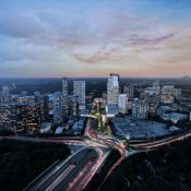 Rendering of the proposed Buckhead Park over GA400 (Credit: Rogers Partners Architects + Urban Designers and Nelson Byrd Woltz Landscape Architects)