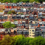 Back Bay rowhouses in Boston (Credit: Rick Berk / Flickr)