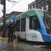 Cincinnati streetcar (AP Photo/John Minchillo)