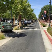 A redesigned street is safer and more economically productive in Lancaster, CA (Credit: Strong Towns)