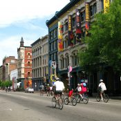 Cyclists down Louisville's Main Street. | Credit: Courtesy Louisville Images