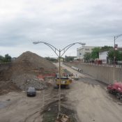 Crews filling in the removed section of the Inner Loop in 2015. (Norman Garrick)