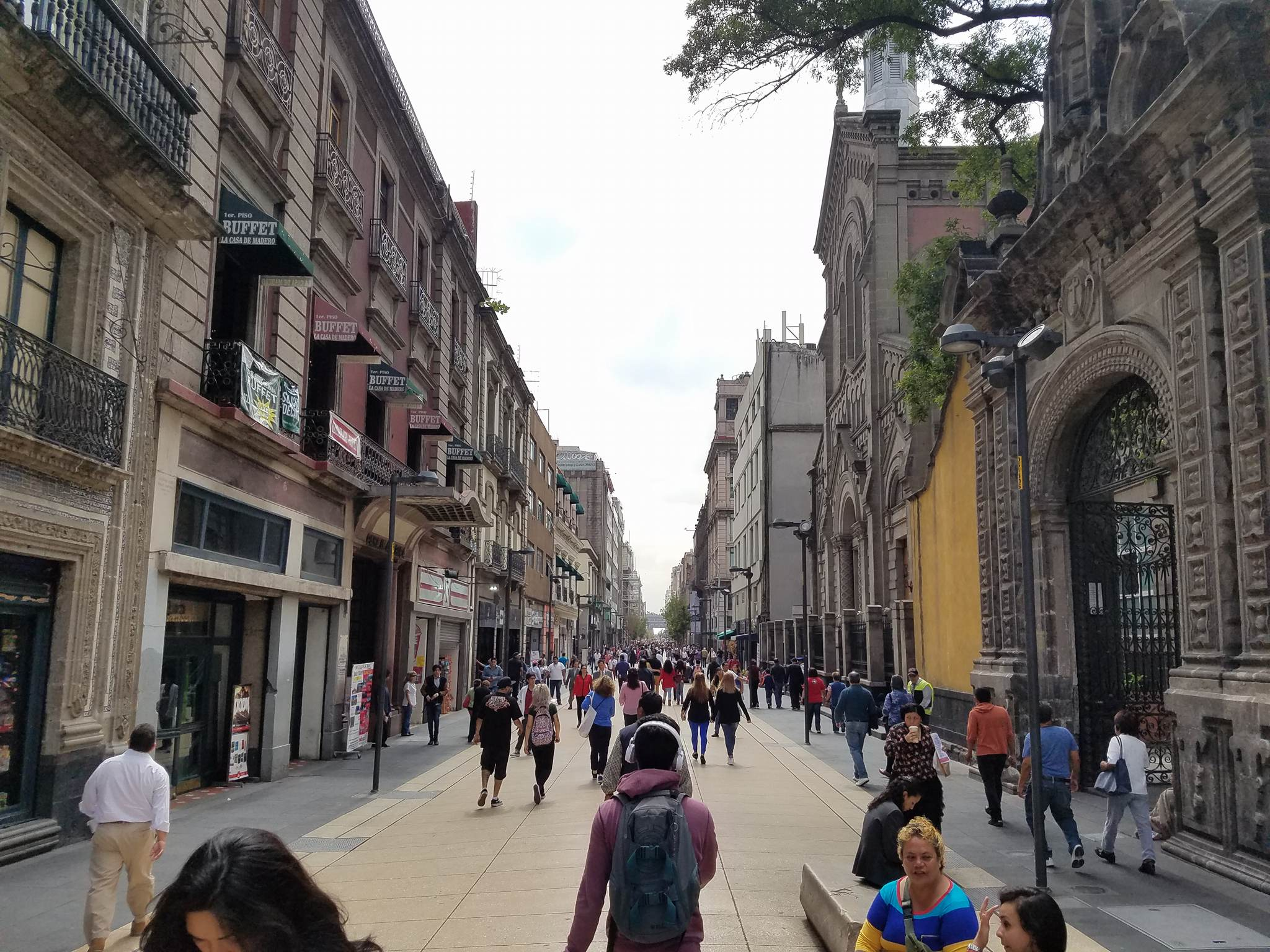 A Pedestrian Street In Downtown Mexico City Market