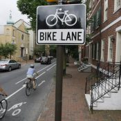 Philadelphia bike lanes (AP Photo/Matt Rourke)