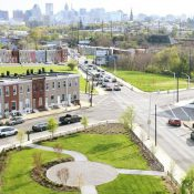 A park on Gay Street highlights the city's Green Network Plan. (Credit: Department of Planning)