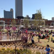 Guthrie Green in Tulsa, Oklahoma is a winner for Great Public Spaces (Credit: Creating Branches)