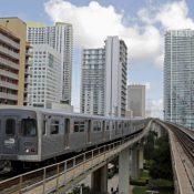 Miami's Metrorail train in downtown Miami, Florida. (Reuters/Joe Skipper)