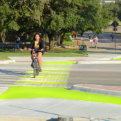 The Texas Transportation Institute built this Dutch Junction on the Texas A&M campus in College Station. Photo: TTI