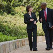Walking meeting (Getty Images)
