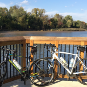 The new segment of the Anacostia River Trail provides stunning views of the river (Credit: Bryan Rodda / Greater Greater Washington)