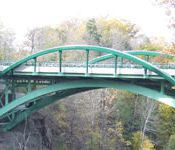 The City of Ithaca and the New York State Department of Transportation rehabilitated the historic Thurston Avenue Bridge in Ithaca, NY, to meet today's multimodal transportation needs without compromising the historic structure. (Credit: FHWA)