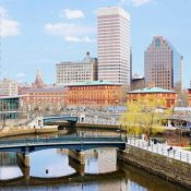 The daylighted Providence River and bridges (Source: CNU)