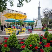 Southwest Airlines and PPS worked with the City of San Antonio's Center City Development & Operations Department to activate historic Travis Park, located in the heart of downtown San Antonio. (Credit: The Rivard Report)