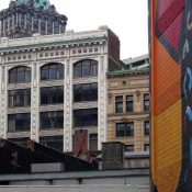 Old facades in Detroit, a city experimenting with Pink Zones. (Credit: Sandy Sorlien)