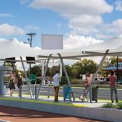 Rendering of BRT in Albuquerque (Source: Smart Growth America)