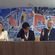 PPS Founder Fred Kent speaking at one of dozens of placemaking events at the UN's Habitat 3 in Quito, Ecuador (Source: PPS)
