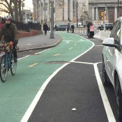 Chrystie Street is already one of the most-biked routes in the city. It now features a much safer design that will get even more people biking. (Credit: David Meyer)