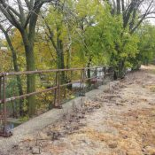 The abandoned railroad embankment in Englewood (Source: Englewood Line)