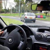 An Uber driver in Bogotá, Columbia (Credit: Alexander Torrenegra)