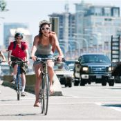Vancouver's cycling traffic has spiked dramatically since the city embarked on a plan to greatly increase the city's bicycle infrastructure. (METRO/FILE)