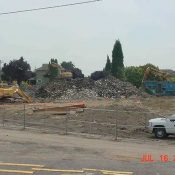 Workers demolished warehouses in Portland during brownfield redevelopment (Source: Oregon Metro)