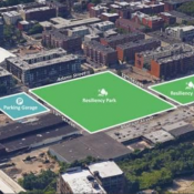 A rendering showing where the Northwest Resiliency Park will be built in Hoboken (Source: City of Hoboken)