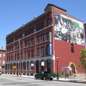 The Gates Art Gallery building in Lowell, MA's Acre neighborhood. Lowell is hoping to support small-scale manufacturing in the neighborhood. (Richard Howe / Flickr)