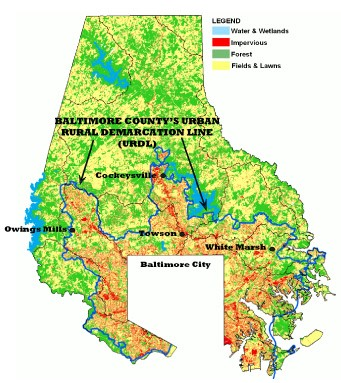 Baltimore County, Maryland, Resource Conservation Zoning and Urban on