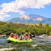 With Mt. Princeton in the background, rafters make their way down the Arkansas River as it enters Browns Canyon National Monument (Scott Willoughby / The Denver Post)