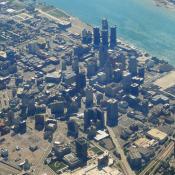 Detroit's central business district in 2011 (Barbara Eckstein / Flickr)