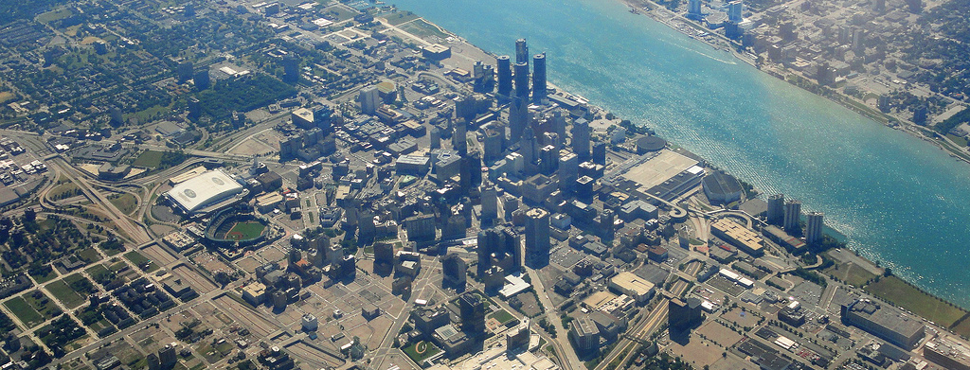 Detroit's central business district in 2011 (Barbara Eckstein / Flickr)