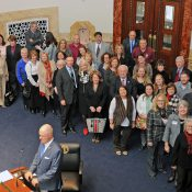 Sen. Robin Webb with with local Main Street directors from across the Kentucky (Source: Kentucky.org)